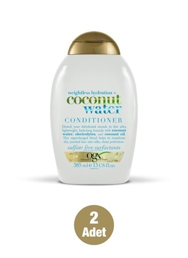 Organix Ogx Coconut Water Saç Kremi 385 Ml X 2 Adet Renksiz
